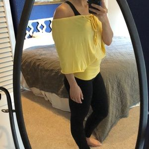 Free People Beach canary yellow top